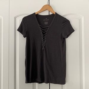 Soft and Sexy Lace Up Tee